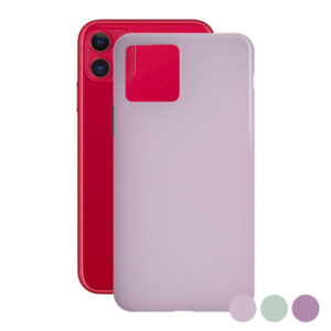 Capa para Telemóvel Iphone 11 KSIX Color Liquid Turquesa