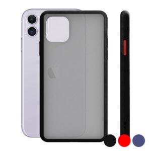 Capa para Telemóvel Iphone 11 KSIX Duo Soft Vermelho