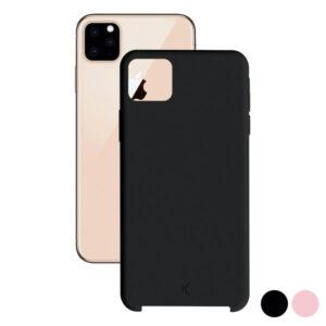 Capa para Telemóvel Iphone 11 KSIX Soft Turquesa