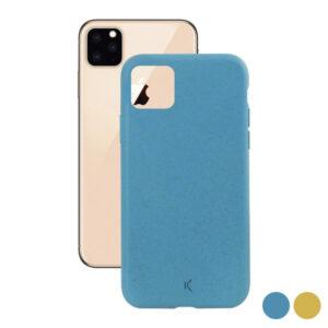 Capa para Telemóvel Iphone 11 KSIX Eco-Friendly Amarelo