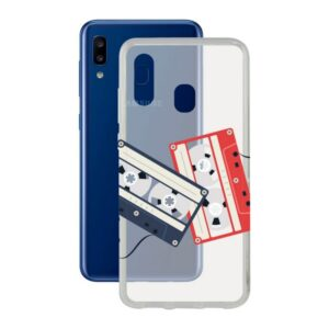 Capa para Telemóvel Samsung Galaxy A20 KSIX Flex Cassettes TPU Transparente