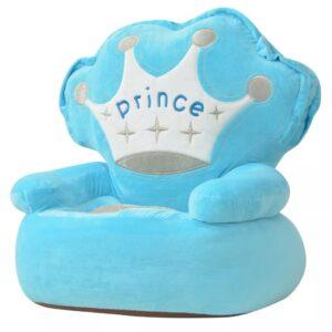 Cadeira em pelúcia infantil, príncipe, azul - PORTES GRÁTIS