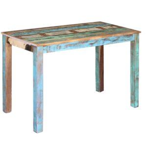 Mesa de jantar madeira reciclada sólida 115x60x76 cm - PORTES GRÁTIS