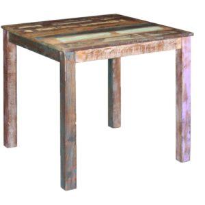 Mesa de jantar madeira reciclada sólida 80x82x76 cm - PORTES GRÁTIS
