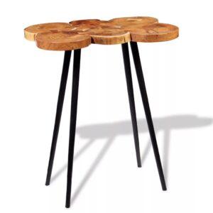 Mesa de bar em troncos, madeira de acácia maciça 90x60x110 cm - PORTES GRÁTIS
