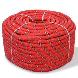 Corda náutica em polipropileno 10 mm 50 m vermelho - PORTES GRÁTIS
