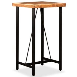 Mesa de bar em madeira de sheesham maciça 60x60x107 cm - PORTES GRÁTIS