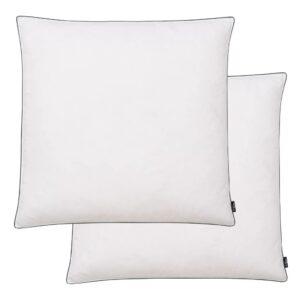 Almofadas 2 pcs enchimento de penugem/penas 80x80 cm branco - PORTES GRÁTIS