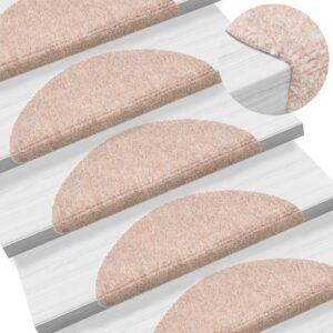 15 Tapetes de escada adesivos 54x16x4 cm castanho - PORTES GRÁTIS