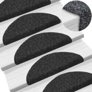 15 Tapetes de escada adesivos 54x16x4 cm preto - PORTES GRÁTIS