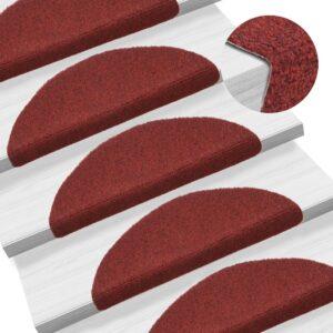 15 Tapetes de escada adesivos 54x16x4 cm vermelho - PORTES GRÁTIS