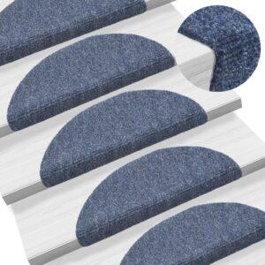 15 Tapetes de escada adesivos 54x16x4 cm azul - PORTES GRÁTIS