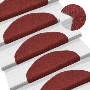 15 Tapetes de escada adesivos 65x21x4 cm vermelho - PORTES GRÁTIS