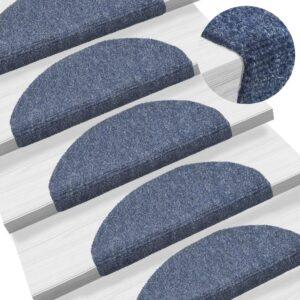 15 Tapetes de escada adesivos  65x21x4 cm azul - PORTES GRÁTIS