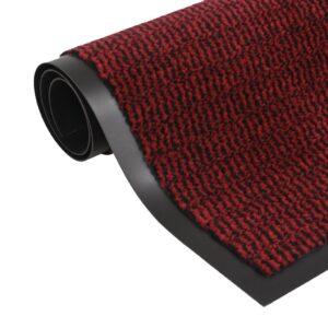 Tapete controlo de pó retangular tufado 60x90 cm vermelho - PORTES GRÁTIS
