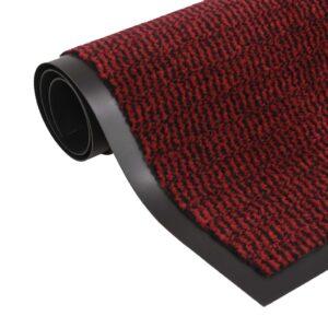 Tapete controlo de pó retangular tufado 80x120 cm vermelho - PORTES GRÁTIS
