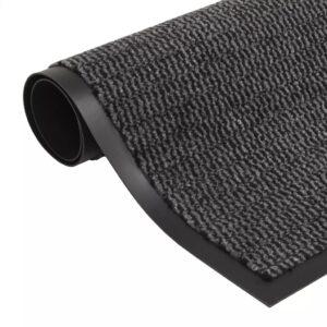 Tapete controlo de pó retangular tufado 90x150 cm antracite - PORTES GRÁTIS