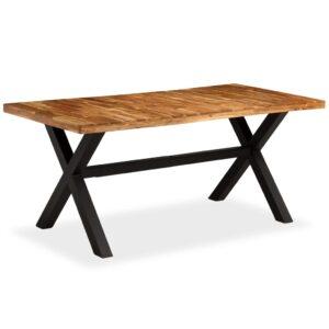 Mesa de jantar madeira maciça de mangueira e acácia 180x90x76cm - PORTES GRÁTIS