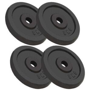 Discos de musculação 4 pcs 20 kg ferro fundido - PORTES GRÁTIS