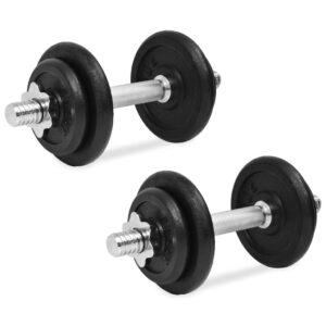 Conjunto de halteres 14 pcs 20 kg ferro fundido    - PORTES GRÁTIS