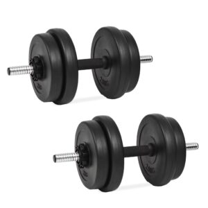 Conjunto de halteres 14 pcs 20 kg - PORTES GRÁTIS