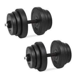 Conjunto de halteres 18 pcs 40 kg - PORTES GRÁTIS