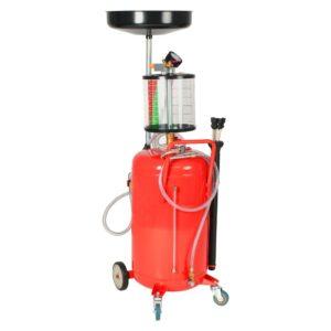 Escorredor de óleo residual 70 L aço vermelho - PORTES GRÁTIS
