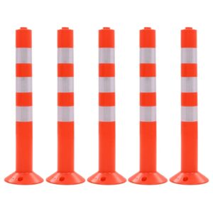Poste de amarração p/ controlo do trânsito 5 pcs plástico 75 cm - PORTES GRÁTIS