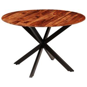 Mesa de jantar em madeira de sheesham maciça 120x77 cm - PORTES GRÁTIS