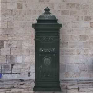 Caixa correio coluna estilo vintage alumínio inoxidável verde - PORTES GRÁTIS