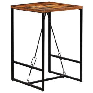 Mesa de bar em madeira reciclada maciça 70x70x106 cm - PORTES GRÁTIS