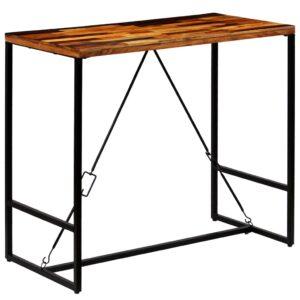 Mesa de bar em madeira reciclada maciça 120x60x106 cm - PORTES GRÁTIS