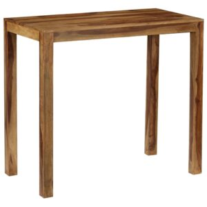 Mesa de bar em madeira de sheesham maciça 118x60x107 cm - PORTES GRÁTIS