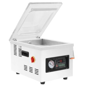 Máquina de embalar a vácuo profissional 400 W aço inoxidável - PORTES GRÁTIS