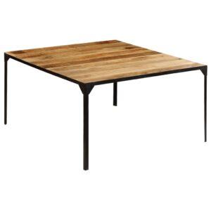 Mesa de jantar madeira de mangueira maciça 140x140x76 cm - PORTES GRÁTIS