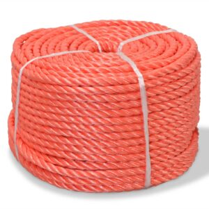 Corda torcida em polipropileno 10 mm 250 m laranja - PORTES GRÁTIS