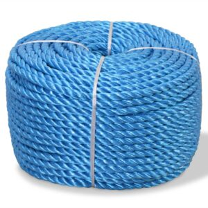 Corda torcida em polipropileno 12 mm 250 m azul - PORTES GRÁTIS