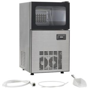 Máquina de fazer cubos de gelo 420 W preto 45 kg/24 h  - PORTES GRÁTIS