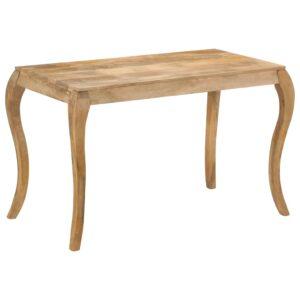 Mesa de jantar 118x60x76 cm madeira de mangueira maciça - PORTES GRÁTIS