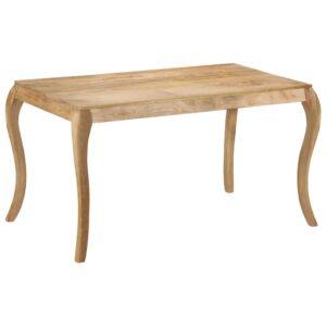 Mesa de jantar 135x75x76 cm madeira de mangueira maciça - PORTES GRÁTIS