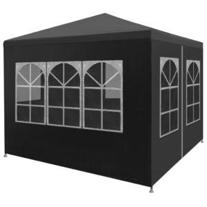 Tenda para festas 3x3 m antracite - PORTES GRÁTIS