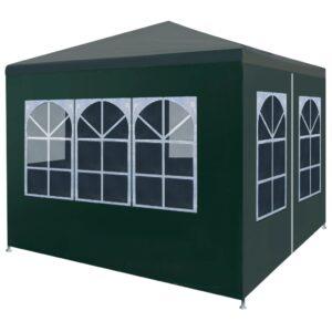Tenda para festas 3x3 m verde - PORTES GRÁTIS