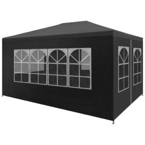 Tenda para festas 3x4 m antracite - PORTES GRÁTIS