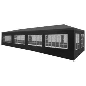 Tenda para festas 3x12 m antracite - PORTES GRÁTIS