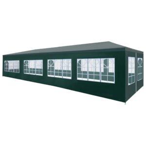 Tenda para festas 3x12 m verde - PORTES GRÁTIS