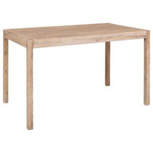 Mesa de jantar 120x70x75 cm madeira de acácia maciça - PORTES GRÁTIS