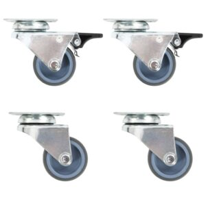 Rodas giratórias duplas 4 pcs 50 mm - PORTES GRÁTIS