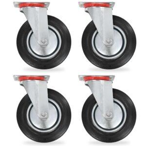 Rodas giratórias 4 pcs 200 mm   - PORTES GRÁTIS