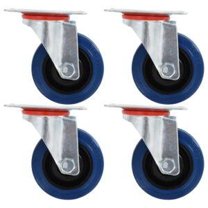 Rodas giratórias 4 pcs 75 mm - PORTES GRÁTIS