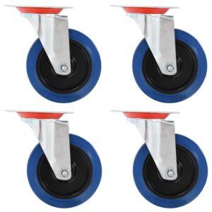Rodas giratórias 4 pcs 100 mm - PORTES GRÁTIS